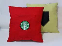 Pillow talk + origami pocket